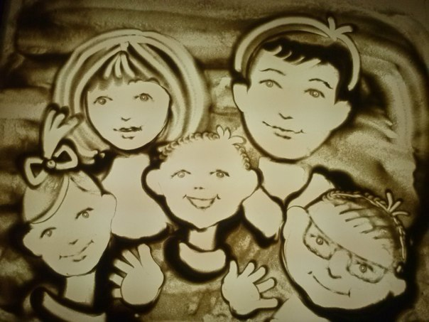 Family Sand Painting