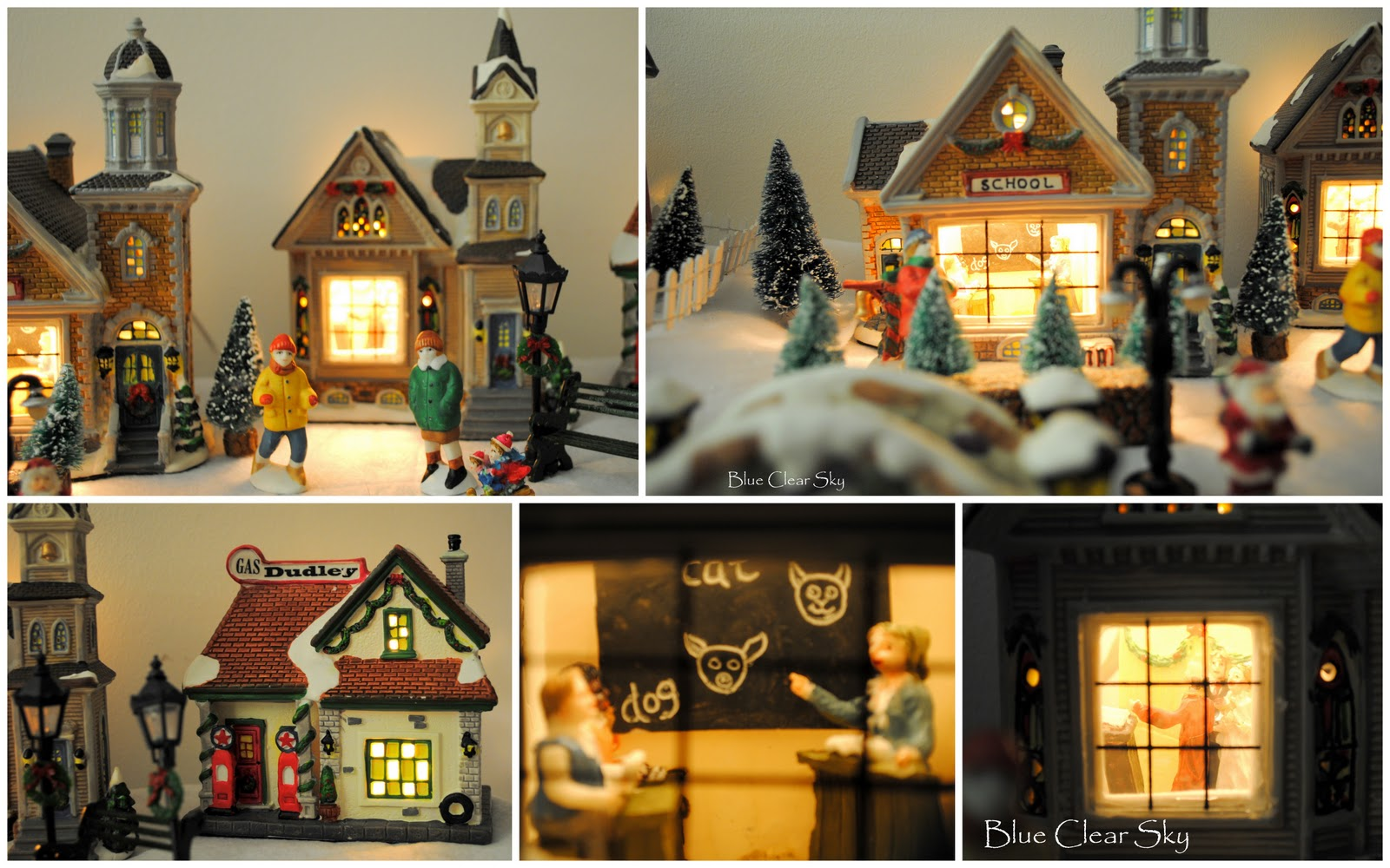 December Christmas Village
