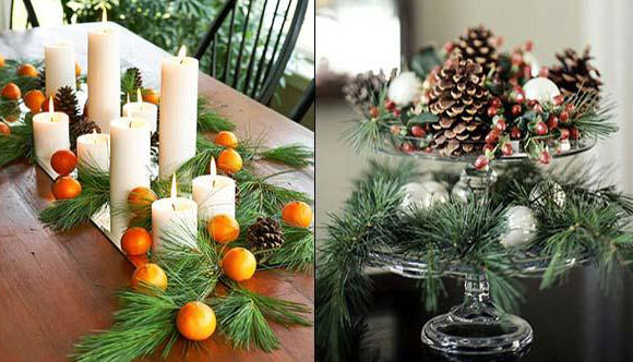 Floristic Christmas Compositions With Candles