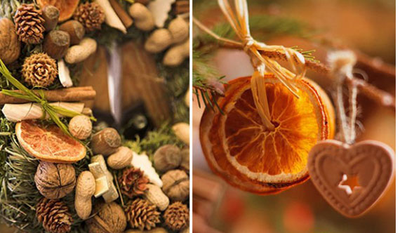 Christmas Decorations With Citrus Fruits