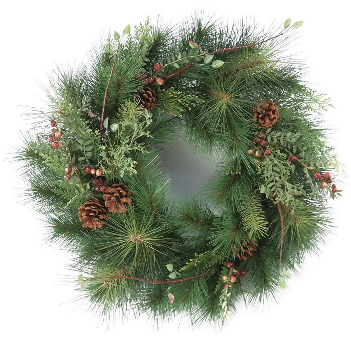 Artificial Christmas Wreath with Pine Cones