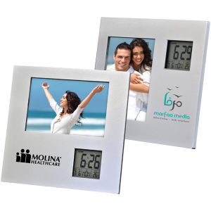 Photo Frame With Two Way Clock.