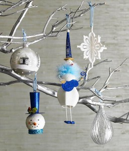 Decorating Branches With Christmas Toys