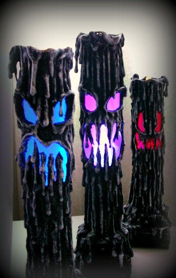 diy halloween lighting. Halloween Candle Paper Mache Prop Diy Lighting