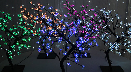 Lighted LED Trees