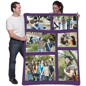 Custom Photo Collage Fleece Blanket