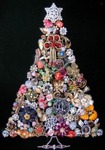 Vintage Jewellery Christmas Tree